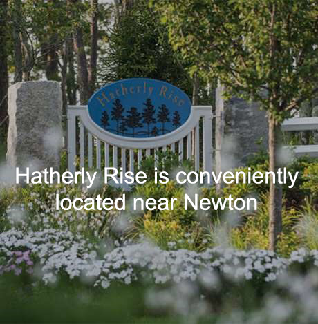 sign of senior living community meaning in Newton MA